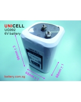 6V lantern battery with screw terminal