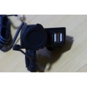 Motorcycle USB charger socket