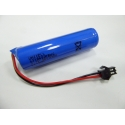 3.7V 2600mAh 18650 1S1P battery with connector plug