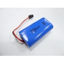7.4V 2600mAh 18650 2S1P battery with two terminal connector plug