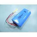 7.4 V 2600mAh 18650 2S1P Li-ion battery with protection pcb and three cable